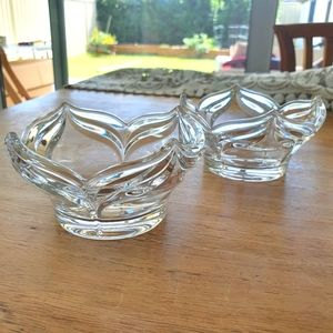 Glass Bowls x 2
